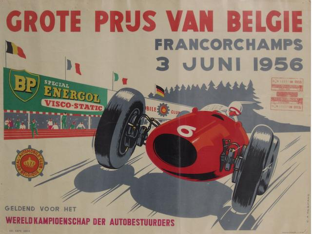 A Belgium Grand Prix poster