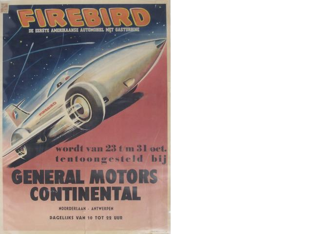 An American Automobile GM Firebird poster