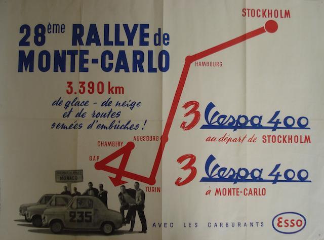 A 1959 Rallye Monte Carlo 'Vespa 400' poster