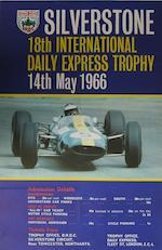 A Silverstone British Grand Prix poster, 1965,