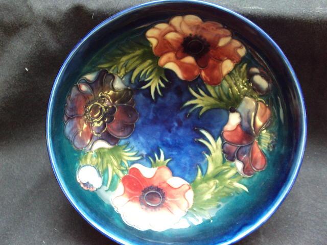 A Moorcroft 'Anemone' pattern bowl