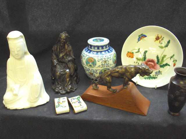 A group lot  of Chinese and British ceramics and works of art