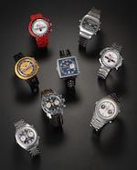 Heuer. A stainless steel automatic calendar chronograph wristwatchMonaco, Ref:1533 B, Circa 1972