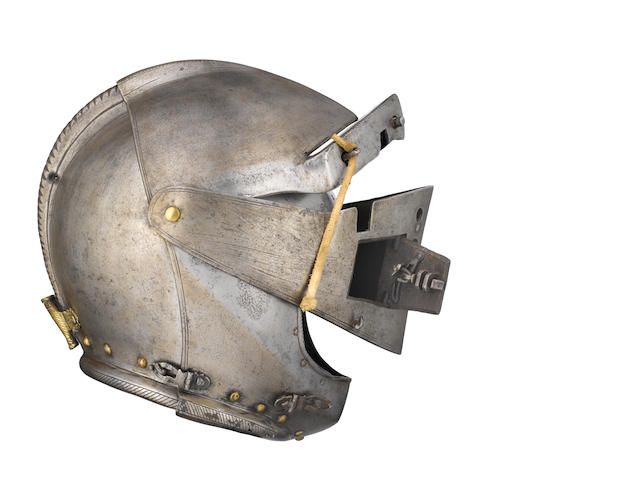 A Fine Italian Close-Helmet For The Tilt