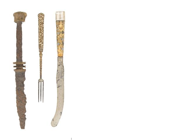 A Group Of English And Continental Cutlery, And A Small Group Of Bolt- And Arrow-Heads