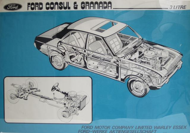 A collection of original Ford dealership posters,