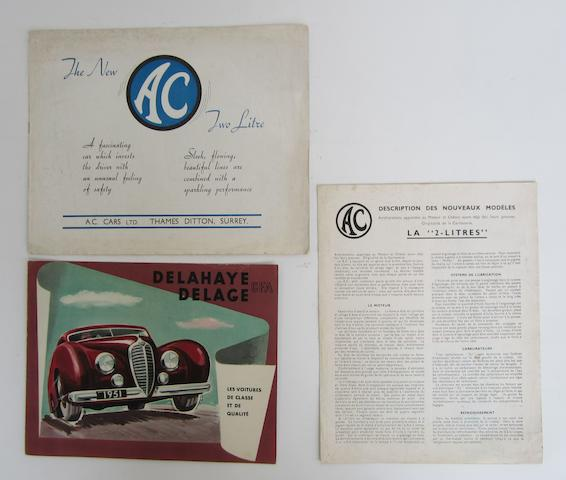 An AC 2 Litre sales brochure