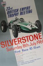 A Silverstone British Grand Prix poster