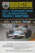 A Silverstone Daily Express Trophy meeting poster, 1967,
