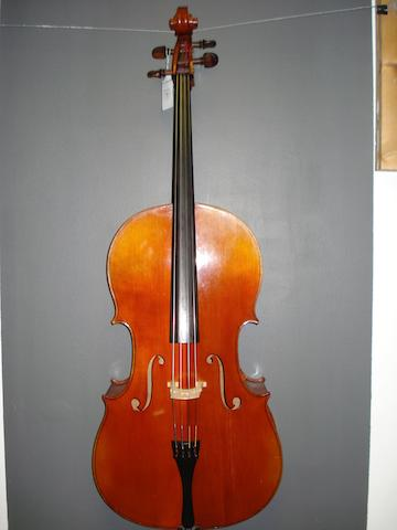 A Mirecourt Cello, Mougenot School circa 1900 (2)