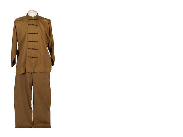 A costume worn by actor Victor Sen Yung as Hop Sing in the TV series 'Bonanza',