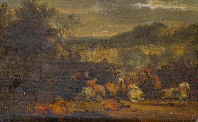 Carel Breydel (Antwerp 1678-1733) A cavalry skirmish