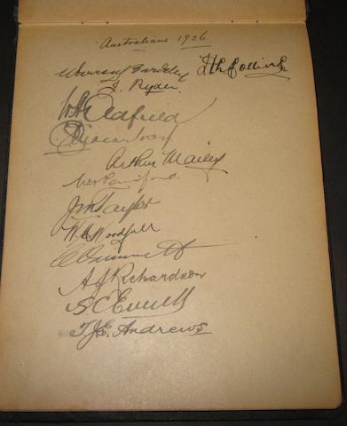 1926 cricket autograph book