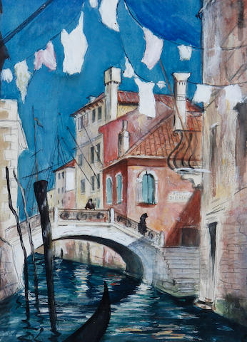 Christopher Richard Wynne Nevinson A.R.A. (British, 1889-1946) Venetian Afternoon 35 x 25 cm. (13 3/4 x 9 3/4 in.)