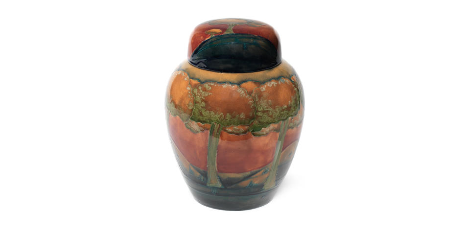 William Moorcroft 'Eventide' a Large Ginger Jar and Cover, circa 1925