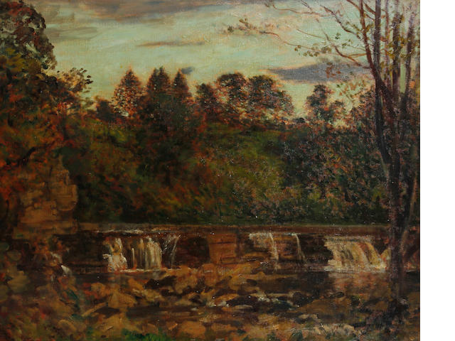 Philip Wilson Steer O.M., N.E.A.C. (British, 1860-1942) 'Near Richmond Yorks', the Falls at Aysgarth