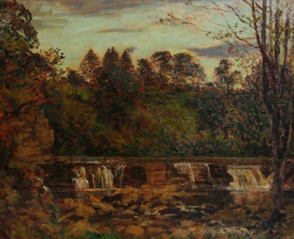 Philip Wilson Steer O.M., N.E.A.C. (British, 1860-1942) 'Near Richmond Yorks', the Falls at Aysgarth