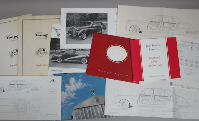 A lot of James Young Coachbuilder Rolls-Royce & Bentley sales brochures