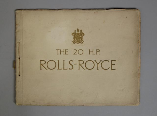 A Rolls-Royce 20hp brochure