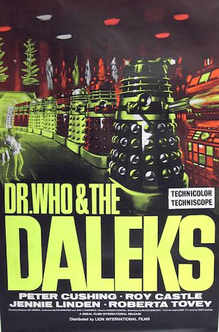 Dr Who: A collection of thirty four re-release film posters, 1965 and 1966, 34