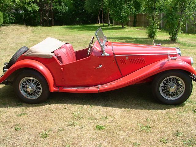 1954 MG Midget TF 1250 Roadster  Chassis no. TF 6061 Engine no. XPAG/TF/36031