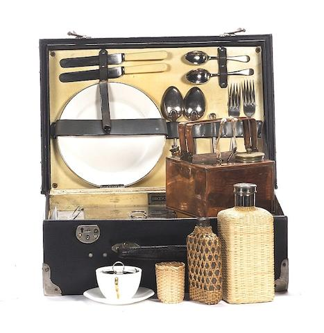 A two person picnic set, by J.B.Brooks & Co Ltd, c1920,