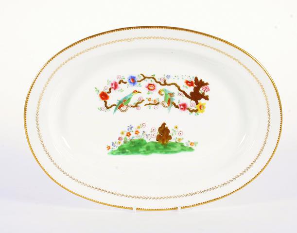 A Swansea oval dish, circa 1820