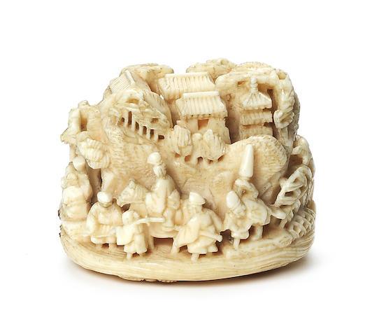 An ivory netsuke By Kagetoshi, 19th century
