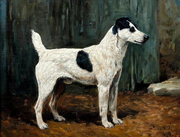 John Emms (British, 1843-1912) 'Venio' and 'Vesuvienne', a pair