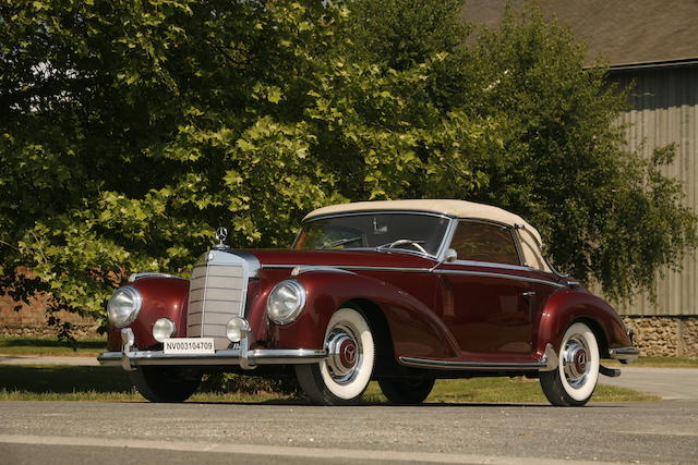 One of only 203 examples produced,1952 Mercedes-Benz 300S Cabriolet  Chassis no. 04452