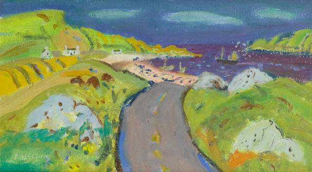 David McClure, RSA RSW RGI (British, 1926-1998) Road to Culkein 17.2 x 30 cm. (6 3/4 x 11 3/4 in.)