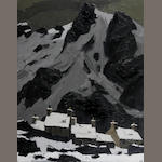 "Sir Kyffin Williams (British, 1918-2006) ""Snow at Gwastadnant"""