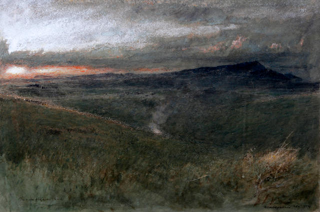 Albert Goodwin, RWS (British, 1845-1932) 'The Gum Diggers Land, in Dargaville, New Zealand'