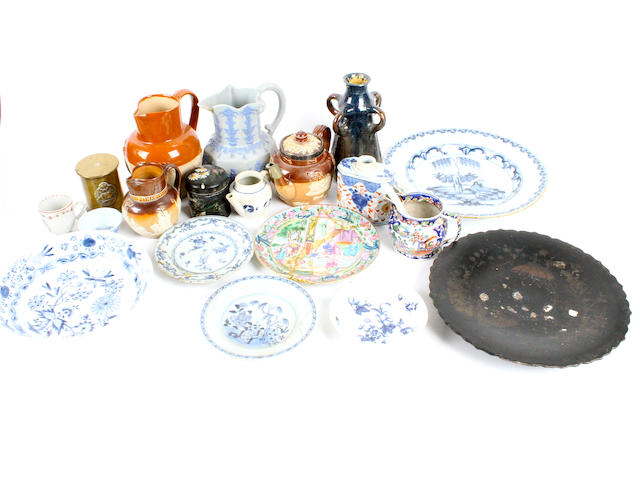 A mixed group of European and Chinese pottery and porcelain 18th/19th century