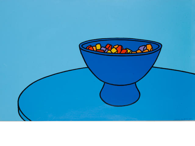 Patrick Caulfield (British, 1936-2005) Sweetbowl (Cristea 5) Screenprint printed in colours, 1967, on wove, signed and numbered /75, printed at Kelpra Studio, London, published by Editions Alecto, London, the full sheet, 557 x 912 mm (22 x 36 in) (SH)