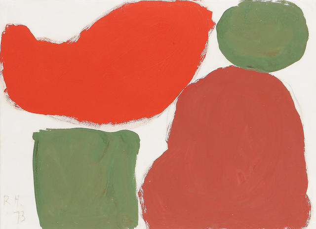 Roger Hilton (British, 1911-1975) Red and green abstract