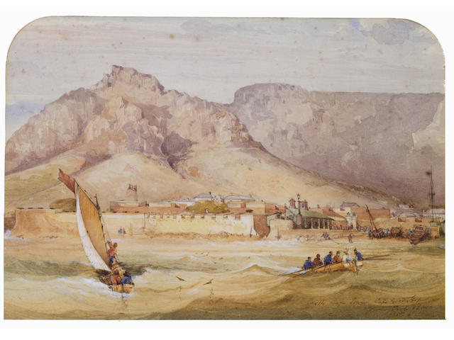 Thomas William Bowler (British, 1812-1869) 'Castle, Cape Town, Cape of Good Hope from Table Bay'