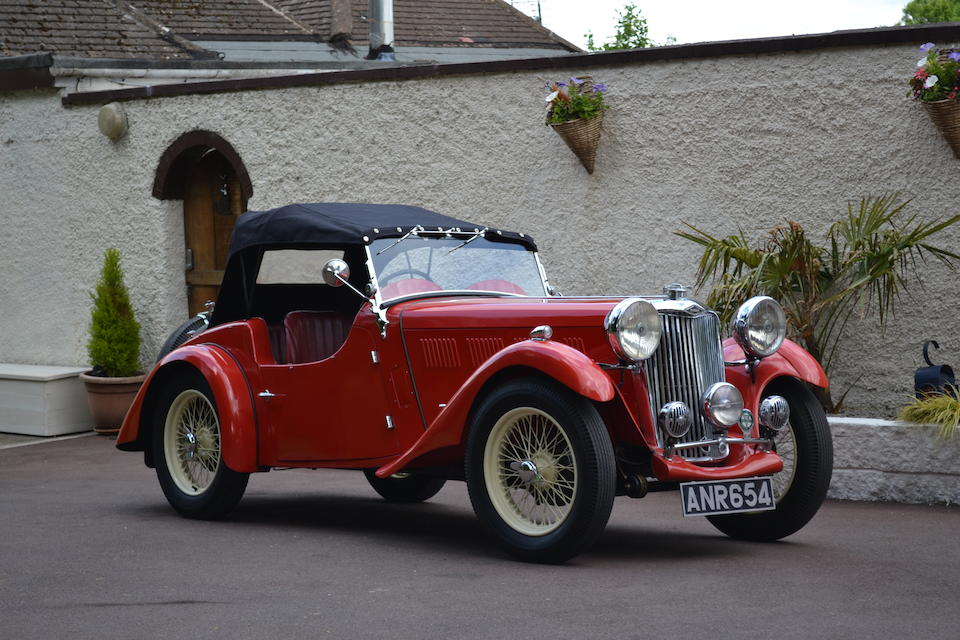 One of only three known survivors,1937 Singer 1.5-Litre 'B37' Sports  Chassis no. 1755H Engine no. S2008H