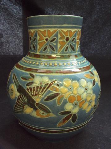 A Brannam art pottery stoneware vase