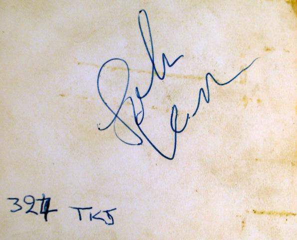 John Lennon's autograph, 1963,