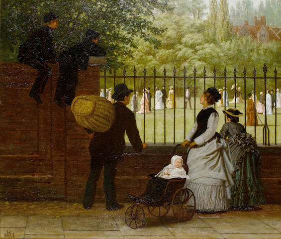 Ormsby Wood (British) The croquet game, Regents Park