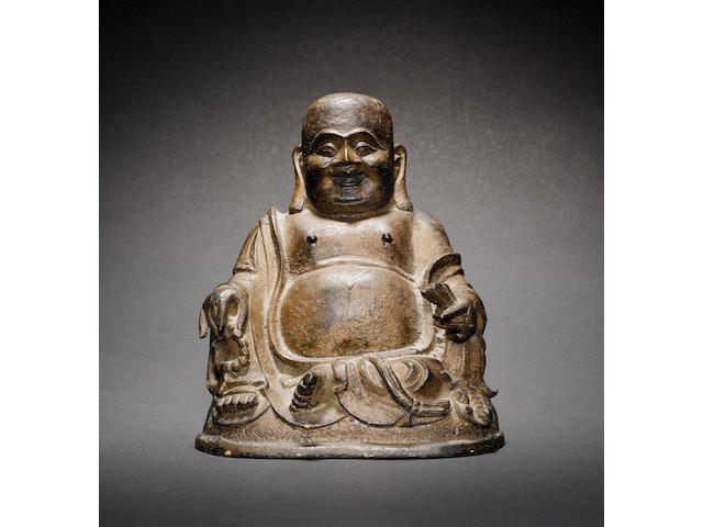 A bronze figure of Budai Heshang, The Manifestation Mile Pusa, Maitreya Ming/Qing Dynasty