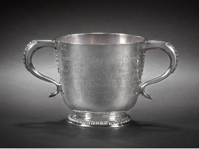 A Fine Queen Anne Silver two handled cup
