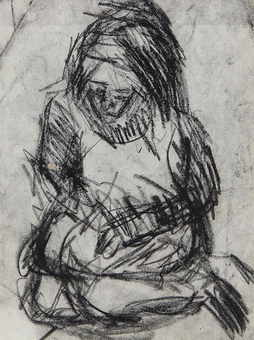 Leon Kossoff (British, born 1926) Seated figure