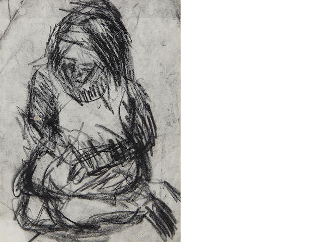 Leon Kossoff (British, 1926) Seated figure