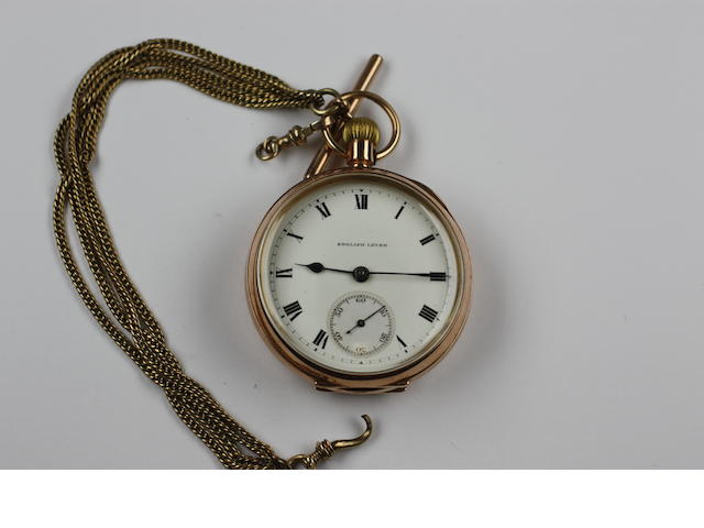 A 9ct gold open faced pocket watch