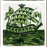 A William De Morgan 'Galleon' tile