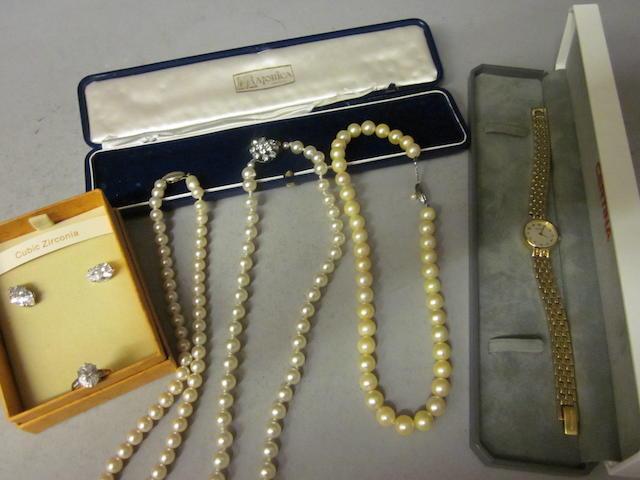 A 9 carat gold Cubic Zirconia dress ring, (Qty)