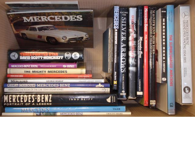 A quantity of Mercedes-Benz books,