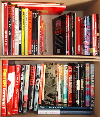 Books relating to Ferrari Grand Prix, racing and sports cars,